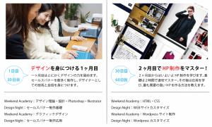 短期WEBデザイナー養成講座 講座スケジュール